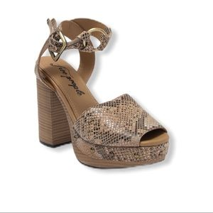 Free People Snakeskin Platform Sandals